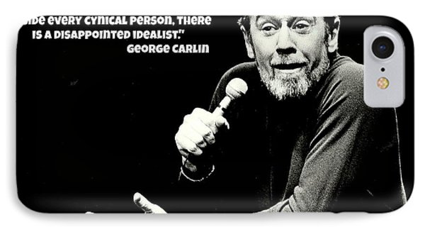 George Carlin Art  IPhone 7 Case by Pd