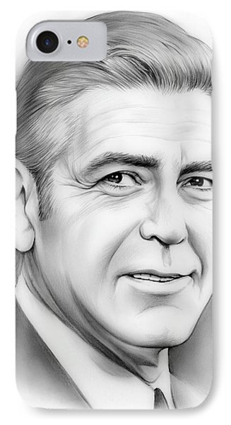 George Clooney IPhone Case by Greg Joens