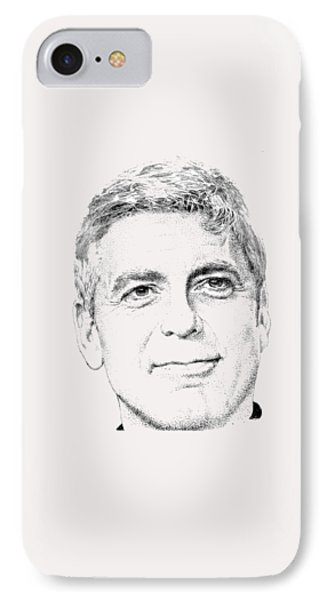 George Clooney  IPhone Case by Herb Strobino