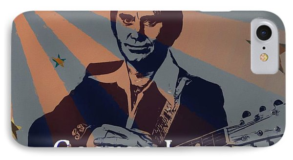 George Jones Poster IPhone Case by Dan Sproul