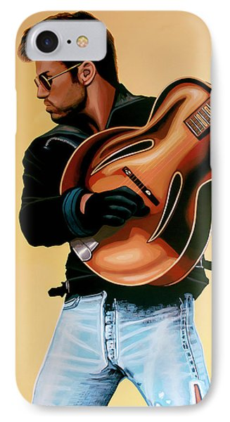George Michael Painting IPhone Case by Paul Meijering