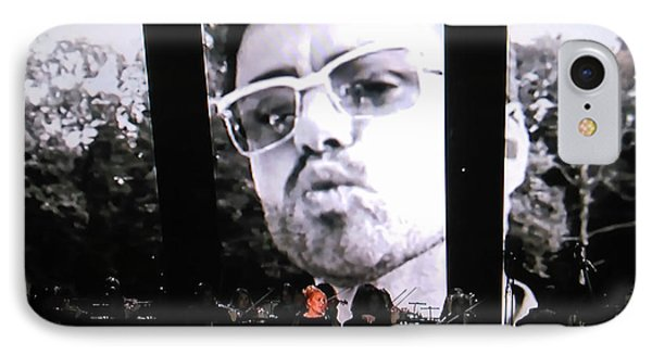 IPhone Case featuring the photograph George Michael Sends A Kiss by Toni Hopper