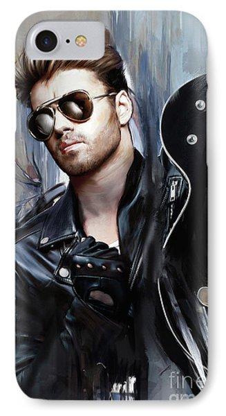 Elton John iPhone 7 Case - George Michael Singer by Melanie D