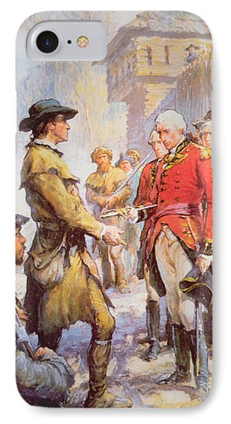 George Rogers Clark Accepts The Surrender Of British Commander Henry Hamilton At Fort Sackville IPhone Case by Newell Convers Wyeth