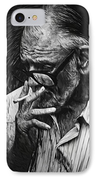 George Romero IPhone Case by Taylan Apukovska