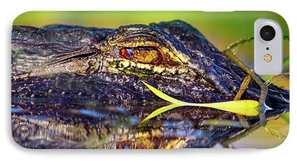 George The Alligator IPhone Case by Mark Andrew Thomas