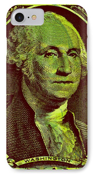 IPhone Case featuring the digital art George Washington - $1 Bill by Jean luc Comperat