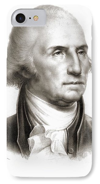 George Washington 1732 - 1799 First IPhone Case by Vintage Design Pics