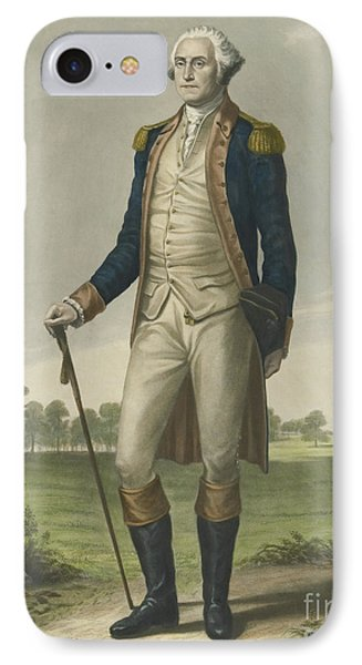 George Washington, 1859 IPhone Case by Hezekiah Wright Smith
