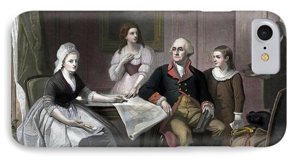 George Washington And His Family IPhone Case by War Is Hell Store