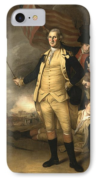 George Washington At The Battle Of Princeton IPhone Case by Charles Willson Peale