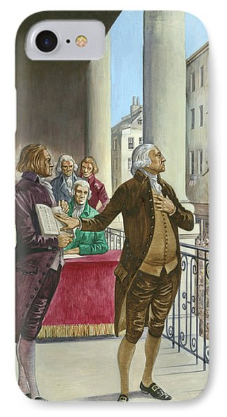 George Washington Being Sworn In As The First President Of America In New York IPhone Case