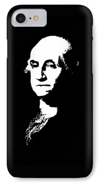George Washington Black And White Phone Case by War Is Hell Store