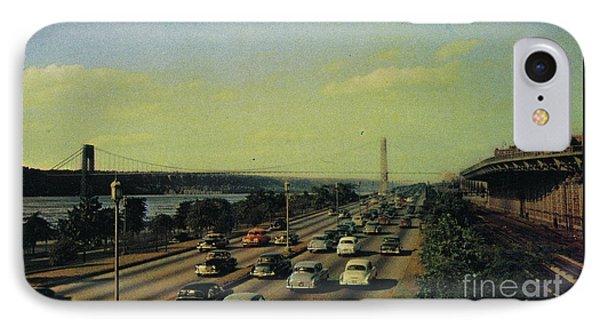 IPhone Case featuring the photograph George Washington Bridge  by Cole Thompson