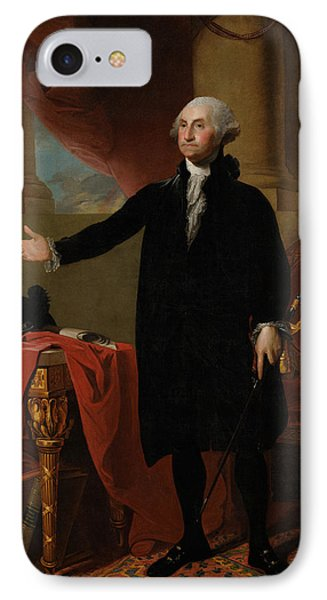 George Washington Lansdowne Portrait IPhone 7 Case by War Is Hell Store