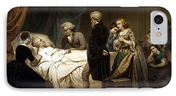 George Washington iPhone 7 Case - George Washington On His Deathbed by War Is Hell Store