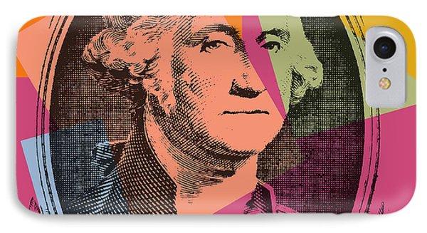George Washington Pop Art IPhone Case by Dan Sproul