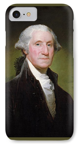 IPhone Case featuring the painting George Washington Portrait by Gilbert Stuart