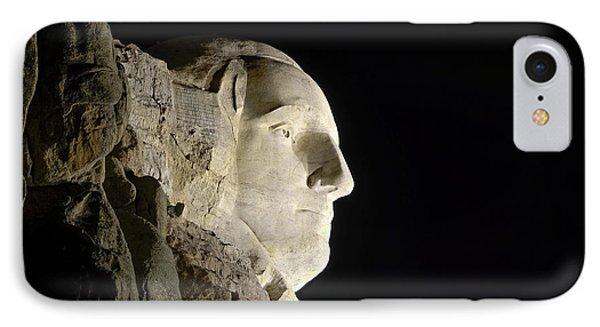 George Washington Profile At Night IPhone Case by David Lawson