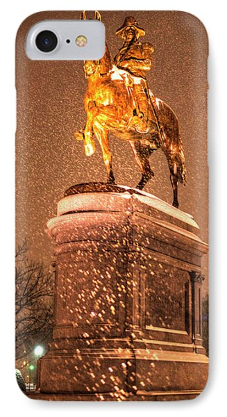 George Washington Statue Boston Public Garden Boston Ma IPhone Case by Toby McGuire