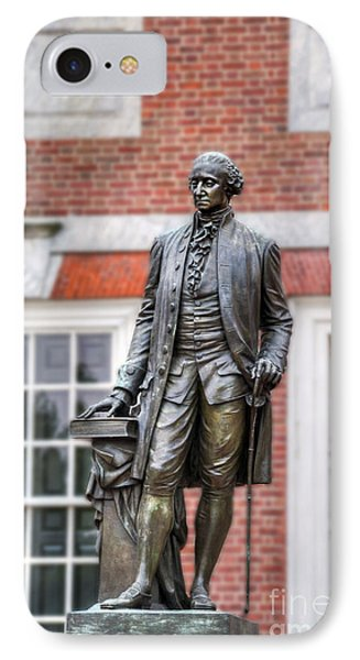 George Washington Statue IPhone Case by David Zanzinger