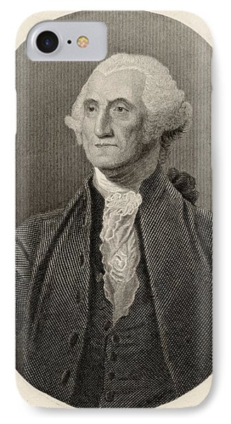 George Washington,1732-1799. First IPhone Case by Vintage Design Pics