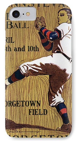 Georgetown Baseball Game Poster IPhone Case