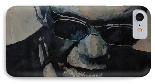 Rock And Roll iPhone 7 Case - Georgia On My Mind - Ray Charles  by Paul Lovering