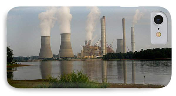 Georgia Power Plant IPhone Case by Donna Brown