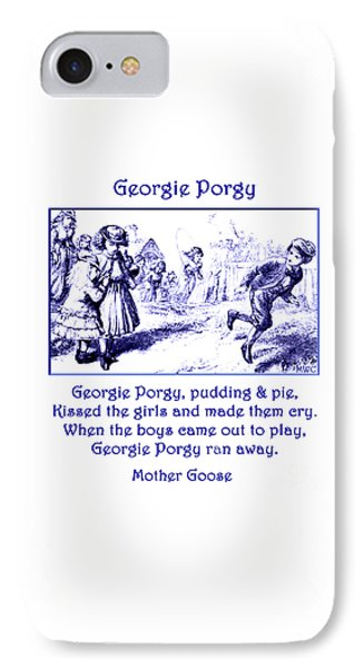 IPhone Case featuring the painting Georgie Porgy Mother Goose Illustrated Nursery Rhyme by Marian Cates