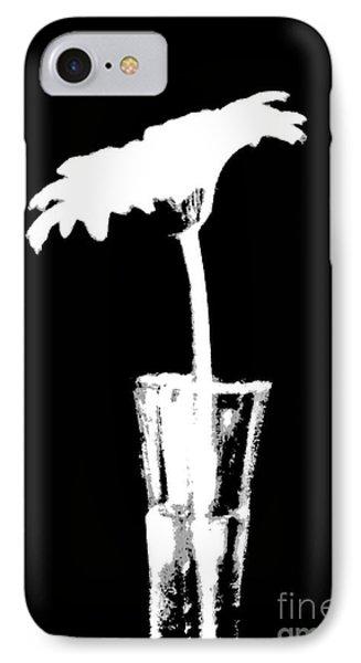 Gerber On Black IPhone Case by Marsha Heiken