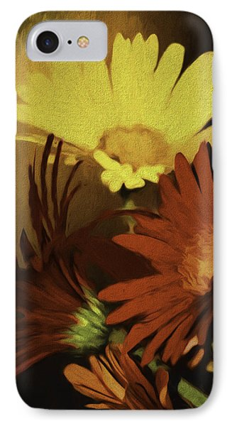 Gerbera Daisies Painterly IPhone Case by Diane Schuster
