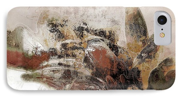 IPhone Case featuring the mixed media Gerberie - 152s by Variance Collections