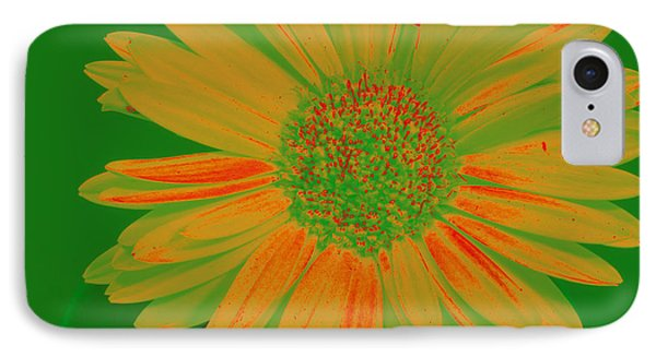 IPhone Case featuring the photograph Gerbia Daisy Sabattier by Bill Barber