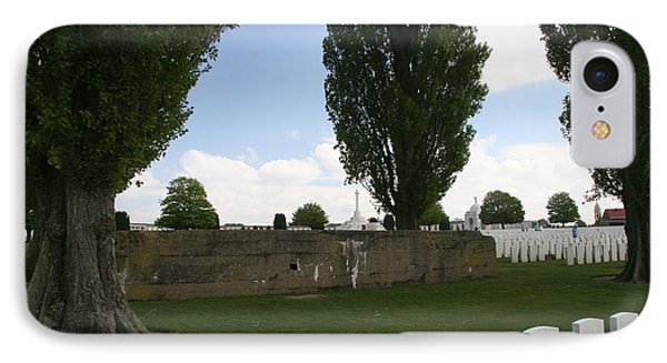 IPhone 7 Case featuring the photograph German Bunker At Tyne Cot Cemetery by Travel Pics