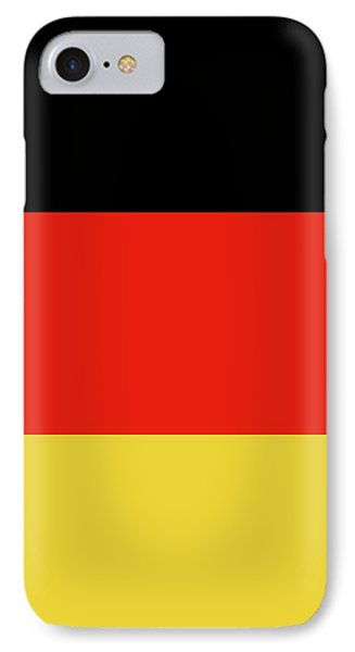 IPhone Case featuring the digital art German Flag by Bruce Stanfield