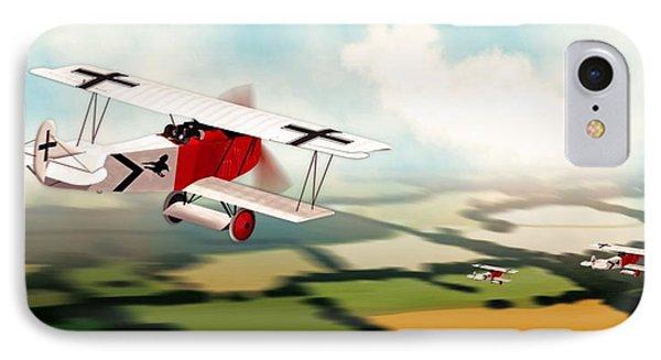 German Fokker D7 Ww1 Fighter IPhone Case by John Wills