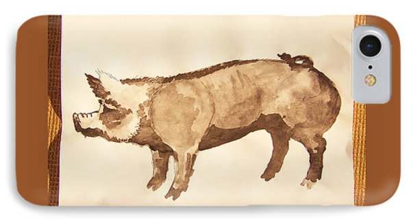 IPhone Case featuring the photograph German Pietrain Boar 31 by Larry Campbell