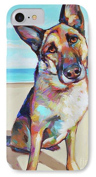 German Shepard On The Beach IPhone Case