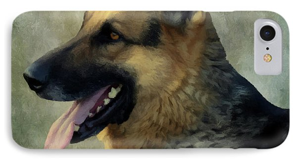 IPhone Case featuring the photograph German Shepherd 405 by David Dehner