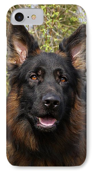 IPhone Case featuring the photograph German Shepherd Close Up by Sandy Keeton