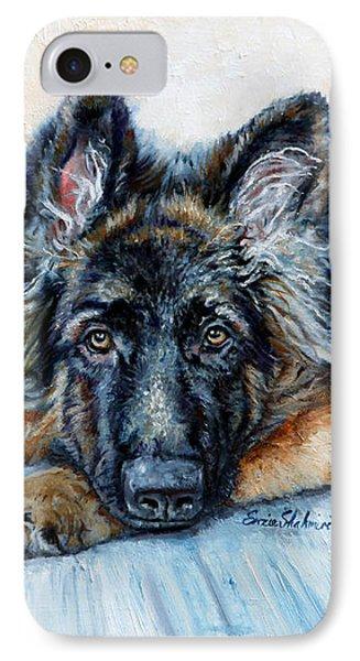 German Shepherd IPhone Case by Enzie Shahmiri