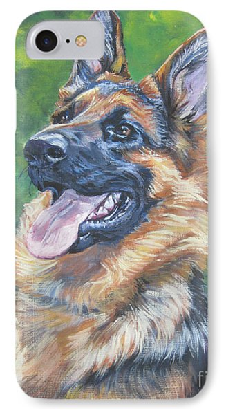 German Shepherd Head Study IPhone Case by Lee Ann Shepard