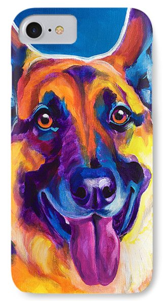 German Shepherd - Hector IPhone Case by Alicia VanNoy Call