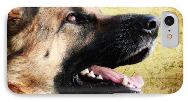 German Shepherd Portrait IPhone Case by Nichola Denny