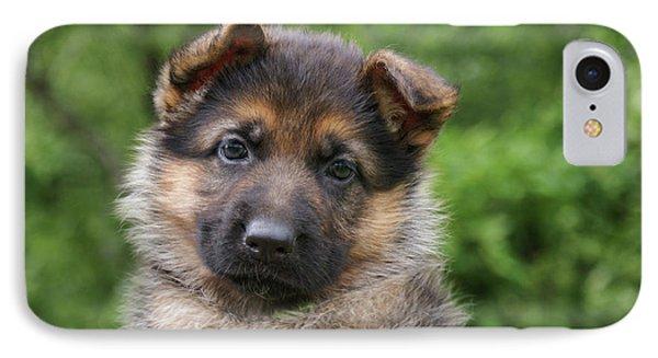 German Shepherd Puppy IIi Phone Case by Sandy Keeton