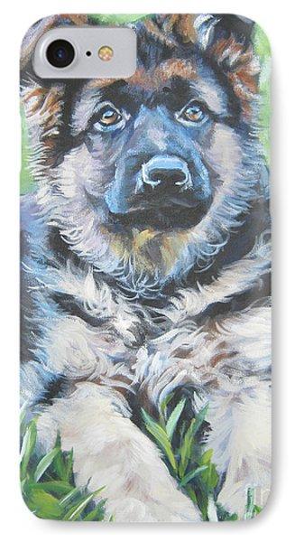 German Shepherd Puppy Phone Case by Lee Ann Shepard