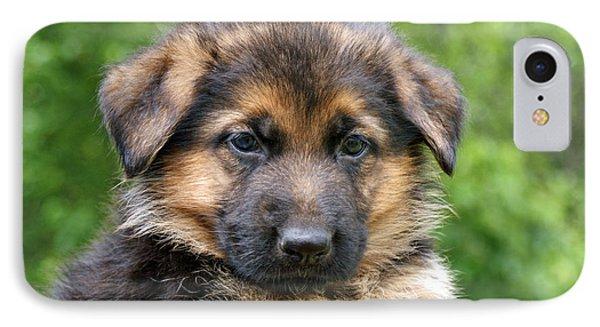 German Shepherd Puppy Phone Case by Sandy Keeton