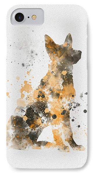 German Shepherd IPhone Case by Rebecca Jenkins