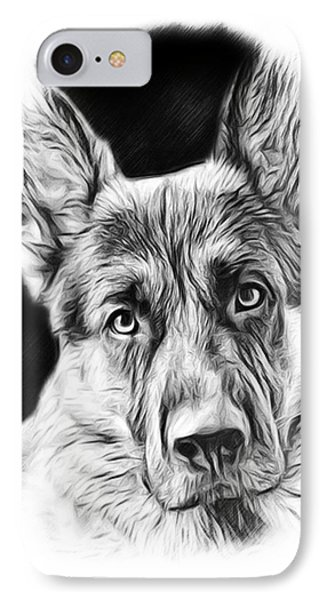 German Shepherd Sketch IPhone Case
